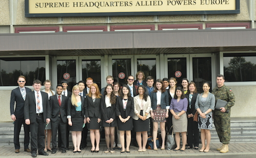 Students at the Supreme Headquarters Allied Powers Europe